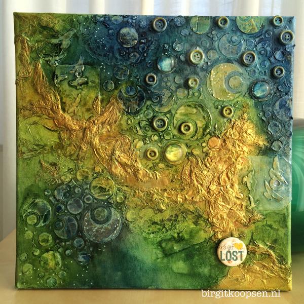 Textured canvas - birgit koopsen for Carabelle Studio