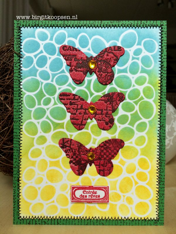 Textrued butterflies card1