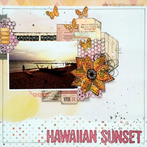 Birgit Koopsen - my stamps with Carabelle - Hawaiian sunset