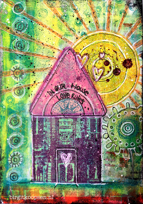 In our house - birgit koopsen for carabelle studio - art journal page
