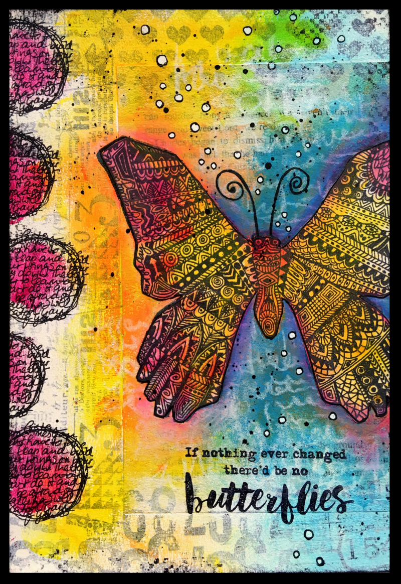 Butterflies art journal full
