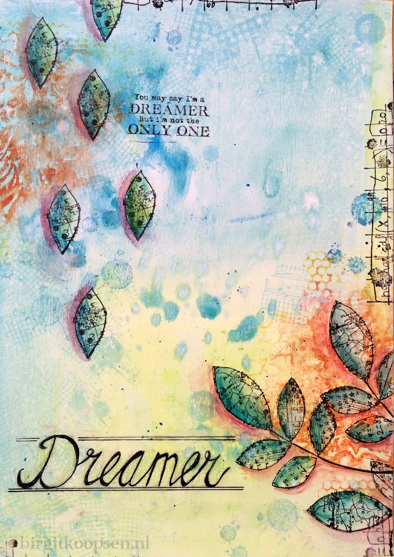 Dreamer - art journal by birgit koopsen