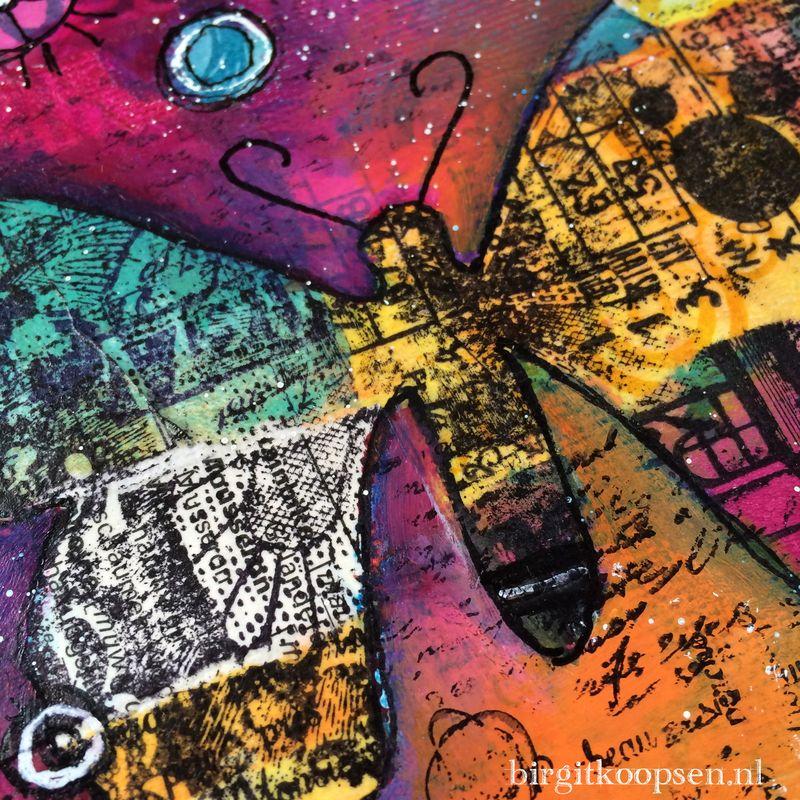 Stand out collage canvas detail2 - birgit koopsen