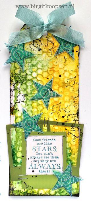 Birgit Koopsen - my stamps with Carabelle - stars tag