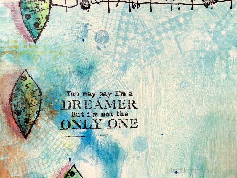 Dreamer.detail2 - art journal by birgit koopsen