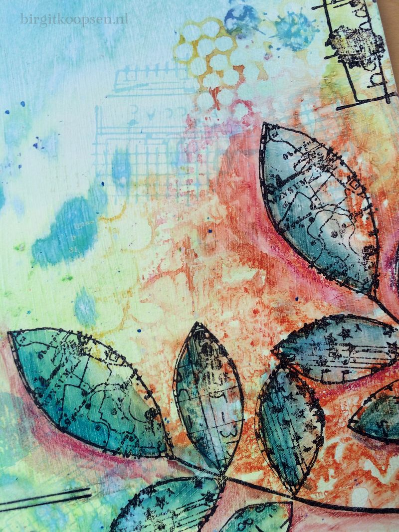 Dreamer.detail1 - art journal by birgit koopsen