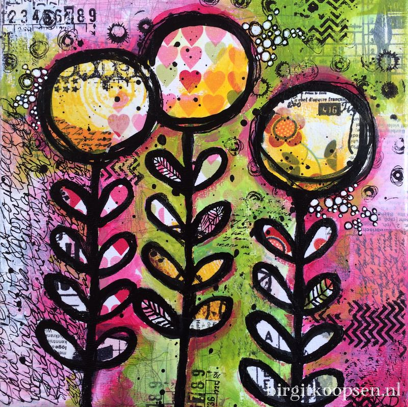 Bloom canvas - birgit koopsen