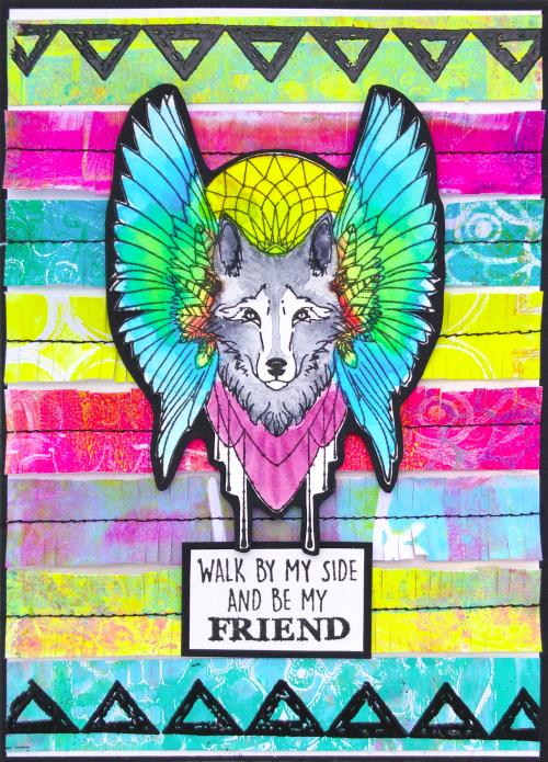 Carte amitié loup