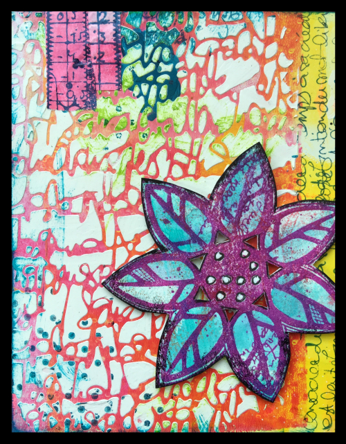 Textured flower card full